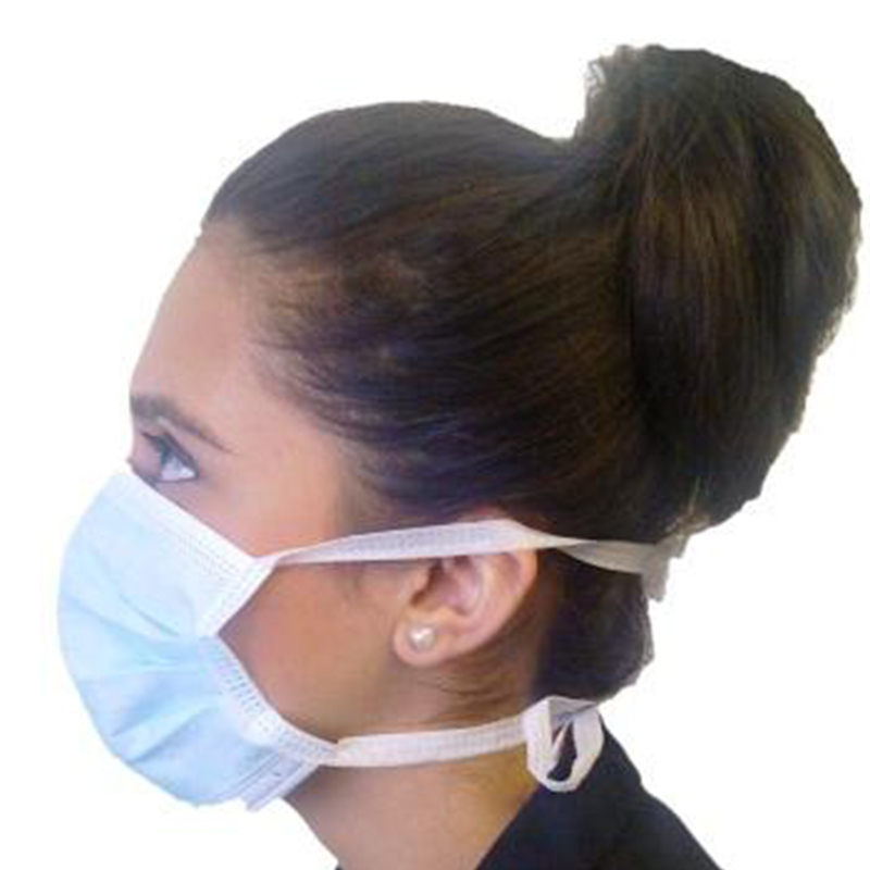 3 Ply Disposable Face Covering  (50 pcs) - With Ties