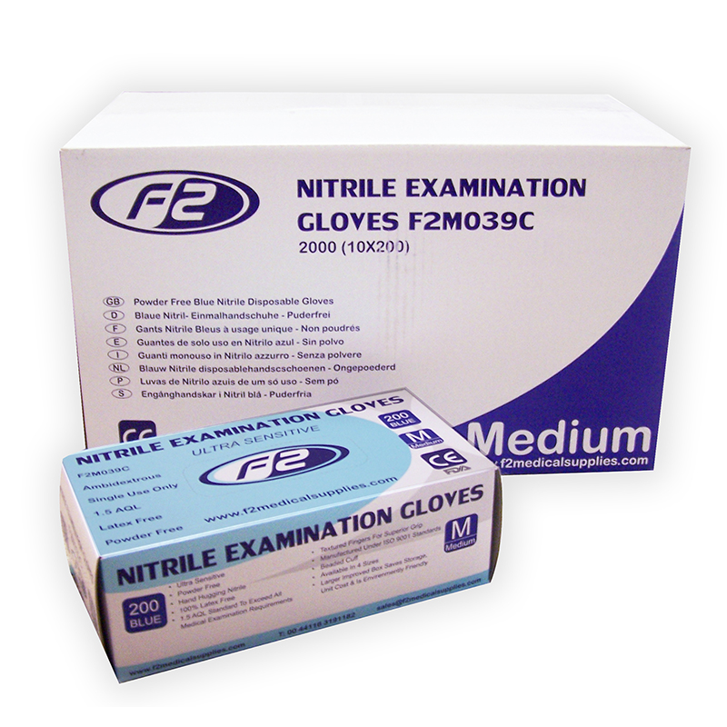 Nitrile Examination Gloves Size Medium 200 Pcs Per Box