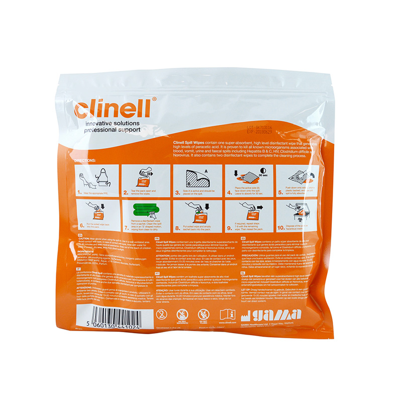 Clinell Spill Wipes