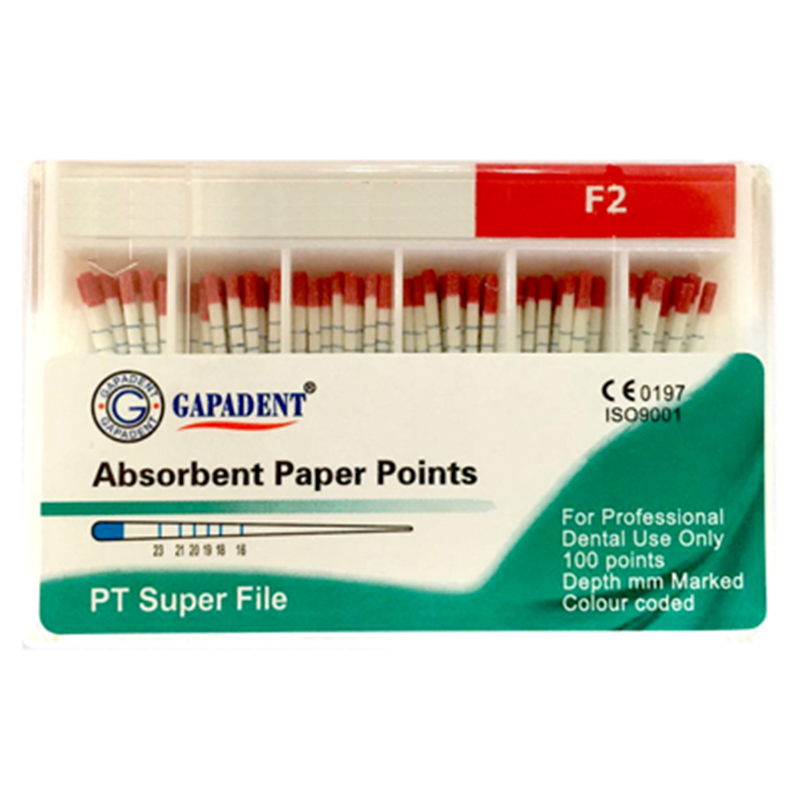 Paper Points F2(T2) 100 Pcs Per Pack
