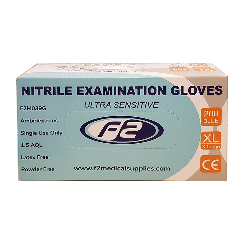 Nitrile Examination Gloves - X-LARGE (200)