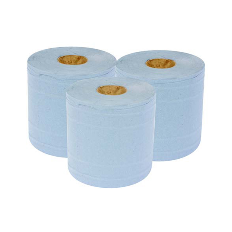 Blue Centre Feed Rolls 6 Rolls Per Pack